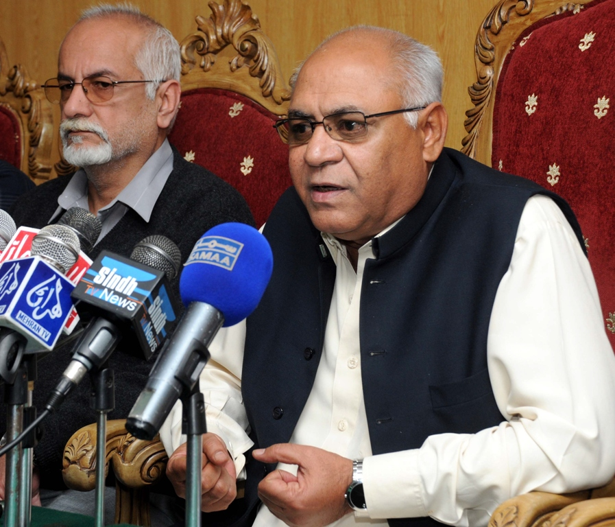 National Party Central President and Federal Minister for Ports and Shipping Hasil Khan Bizenjo. PHOTO: ZAFAR ASLAM