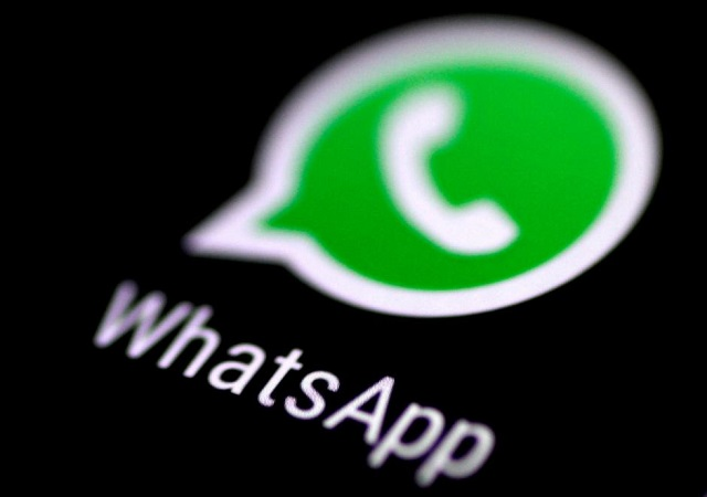 The WhatsApp messaging application is seen on a phone screen August 3, 2017. PHOTO: REUTERS