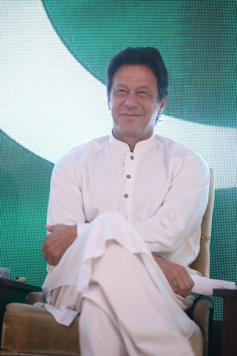 Imran Khan at the unveiling. PHOTO: PTI OFFICIAL