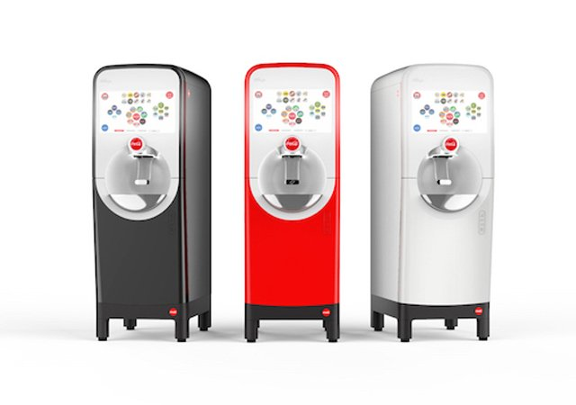 Coca-Cola has announced its new soda machine, Freestyle 9100 that will connect to Bluetooth through a mobile app. PHOTO: COCA-COLA