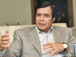 Elahi says because of some mega projects Punjab is steeped in Rs0.2 trillion of debt PHOTO: EXPRESS