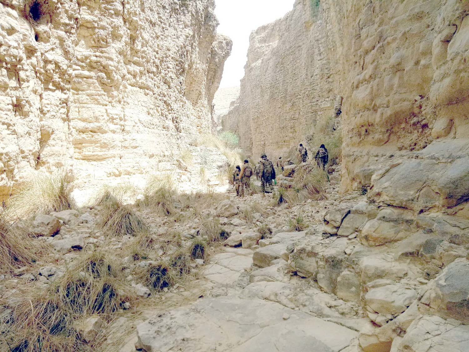 Frontier Corps personnel looking for remaining terrorists in the Kohlu area. PHOTO: EXPRESS