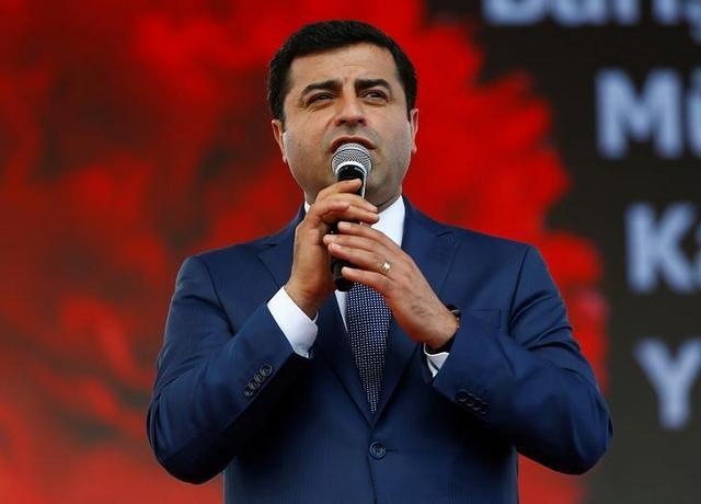 Kurdish Politician Selahattin Demirtas. PHOTO: REUTERS/ Osman Orsal