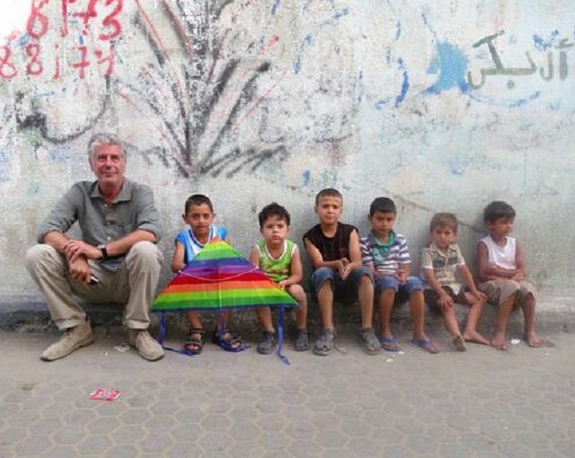During an episode of 'Parts Unknown',in 2013 he portrayed Palestinians as human beings to American audience for the very first time. PHOTO: TWITTER (@erinmcunningham)