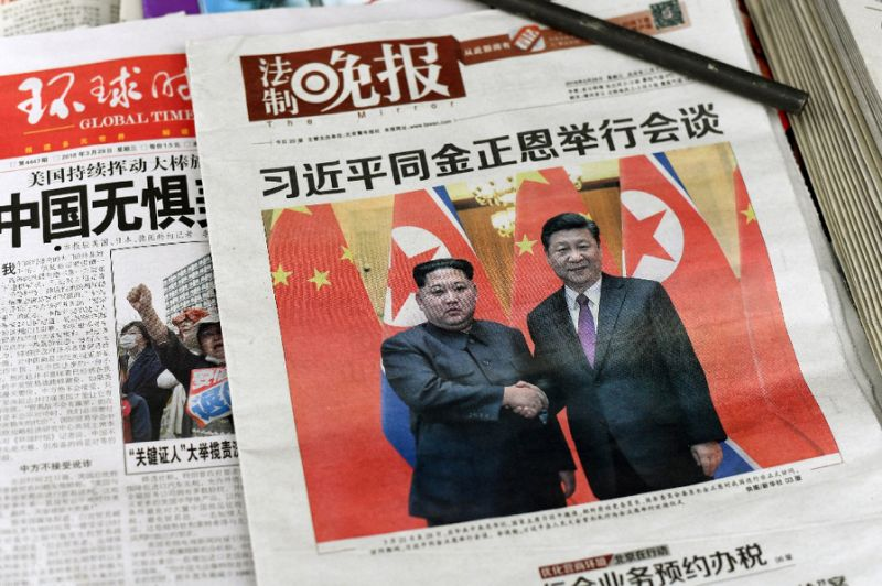 Chinese officials have moved quickly to remind both the US and North Korea that Beijing was indispensable in negotiations with Pyongyang. PHOTO: AFP