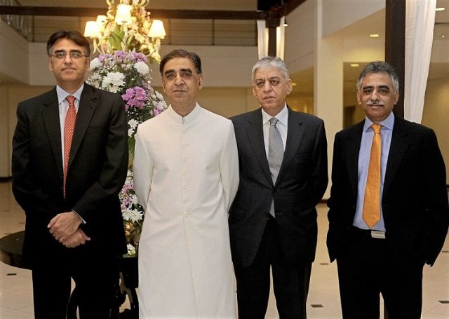 Four of  General Umar's six sons at a private event. PHOTO COURTESY: FACEBOOK/SHOAIB KAMAL
