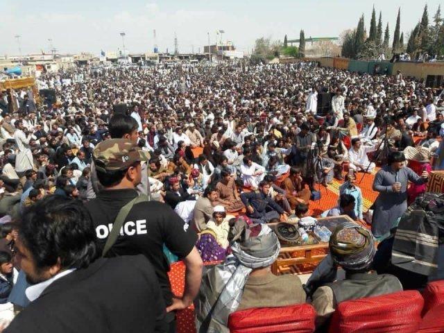 Pashtun Tahaffuz Movement. PHOTO: EXPRESS/FILE