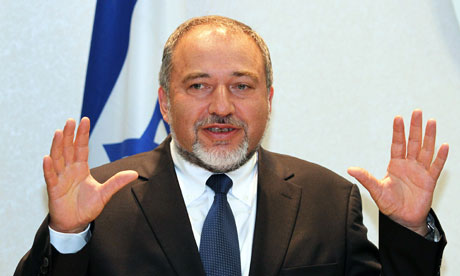 A file photo of Israel's Defence Minister Avigdor Lieberman. PHOTO: AFP