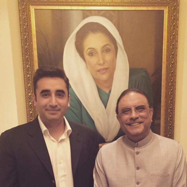 Bilawal Bhutto Zardari with father Asif Ali Zardari. PHOTO: BILAWAL BHUTTO ZARDARI/ INSTAGRAM