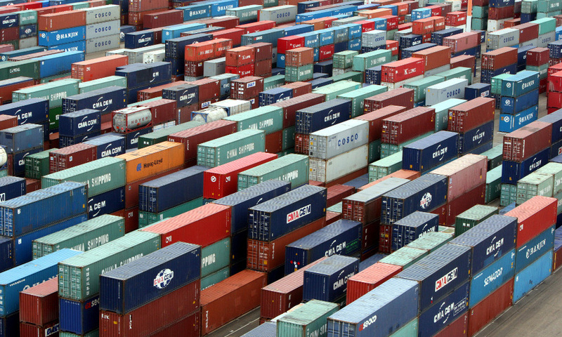 Goods' shipments from Pakistan to almost all regions record increase in FY18. PHOTO: REUTERS
