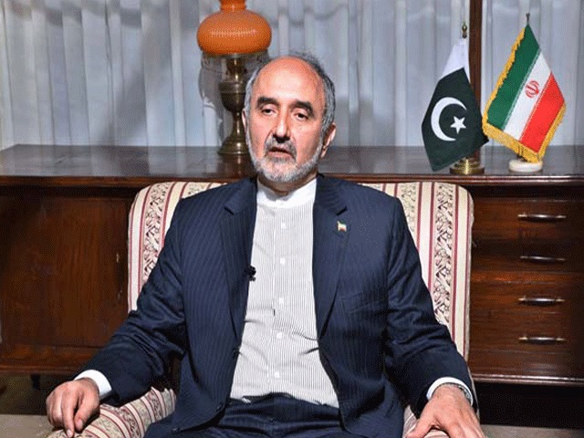 Iranian ambassador to Pakistan Mehdi Honardoost congratulates PTI chief on winning July 25 polls. PHOTO: APP/FILE
