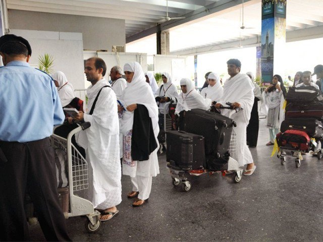 Those on government Hajj quota scheme given preference over private applicants by the airline, claim passengers. PHOTO: EXPRESS/FILE