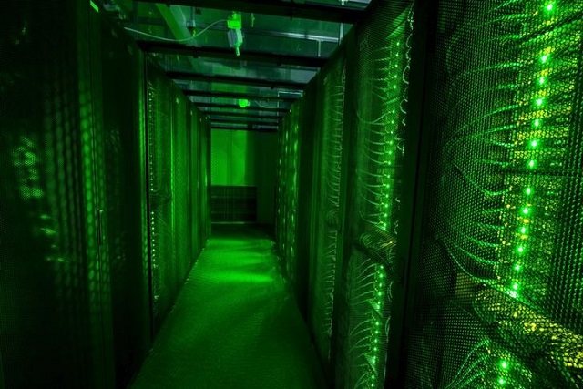 Servers for data storage are seen at Advania's Thor Data Center in Hafnarfjordur, Iceland August 7, 2015. PHOTO: REUTERS