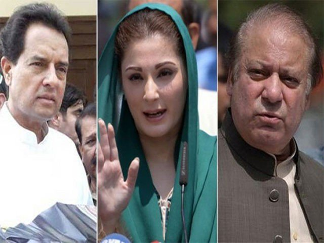 The PML-N big wigs are serving their sentences in the Avenfield reference by an accountability court over their failure to justify the means by which they amassed their wealth.. PHOTO: EXPRESS/FILE