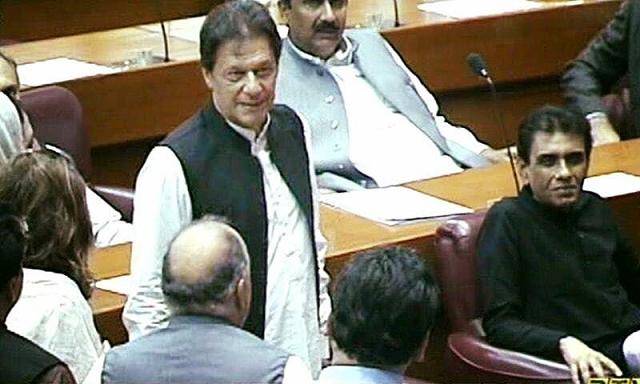 Imran Khan.  PHOTO COURTESY: TWITTER @PTI OFFICIAL