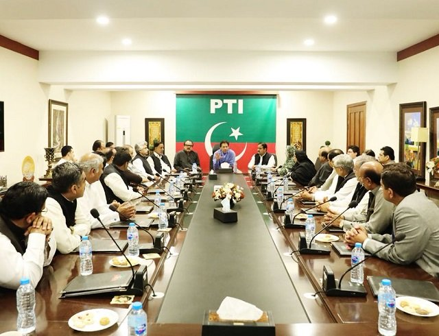Decision was made in a party huddle at PM Imran Khan's Bani Gala residence. PHOTO COURTESY: PTI