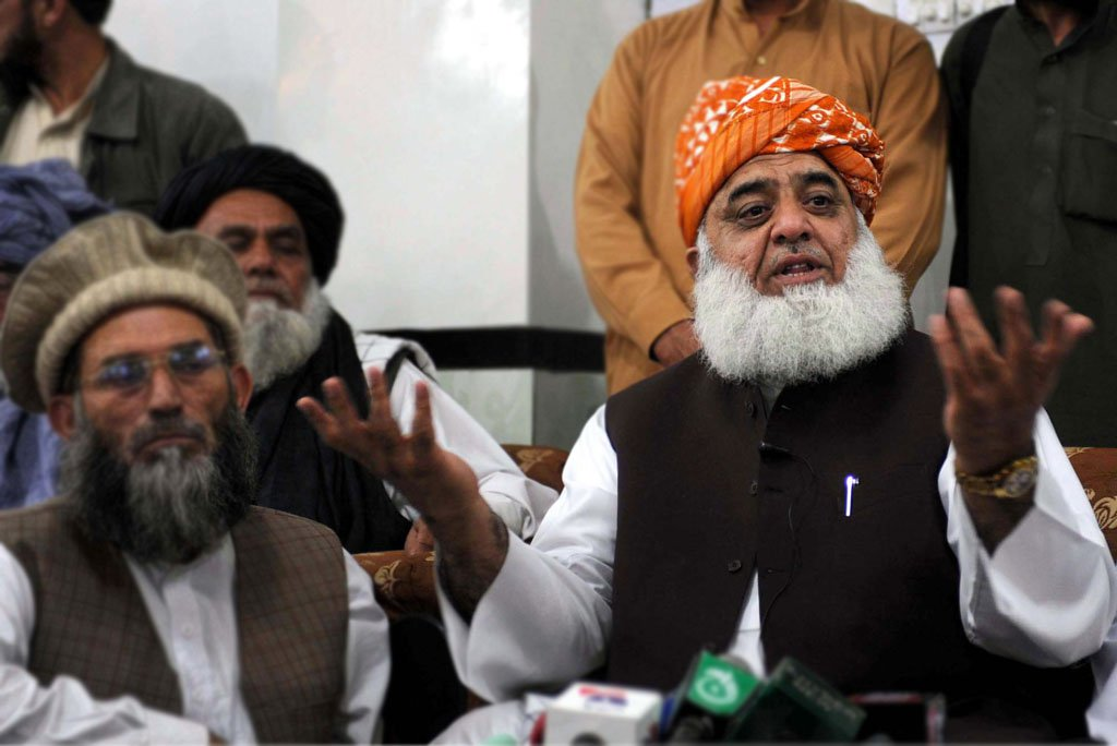 Maulana Fazlur Rehman says opposition parties joined hands after 'historic election rigging'. PHOTO: PPI