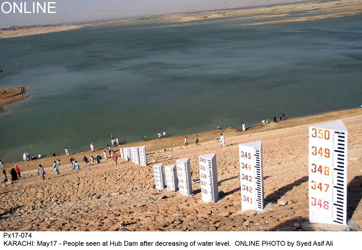 276 ft is the dead level of the Hub dam, but the level had now risen to 282 ft PHOTO: ONLINE