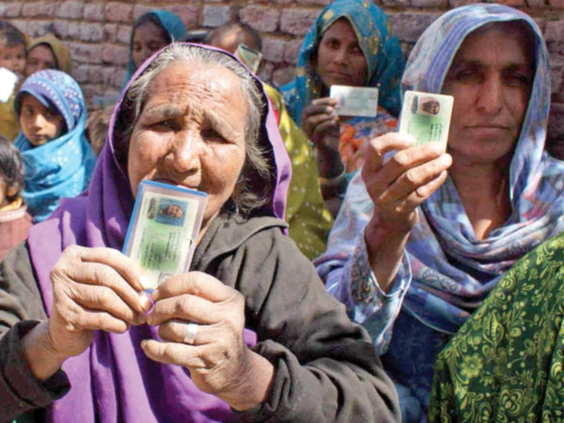 Data shows 9.6% and 9.2% women cast votes at NA-10, NA-48; ECP overlooked the results. Representational image. PHOTO: INP