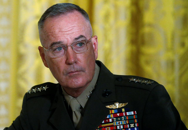US Joint Chiefs Chairman General Joseph Dunford attends a meeting of the National Space Council in the East Room of the White House in Washington, US, June 18, 2018.  PHOTO: REUTERS