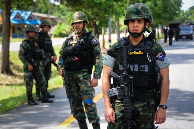 Thai soldiers. PHOTO: AFP
