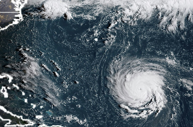 Hurricane Florence. PHOTO: AFP