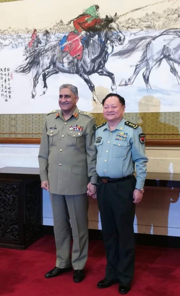 COAS with Chinese General Zhang Youxia. PHOTO: ISPR
