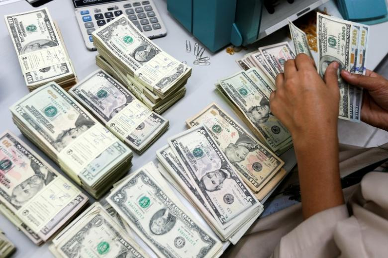 Decrease of 2.63% attributed to external debt servicing, official payments. PHOTO: REUTERS/Athit Perawongmetha