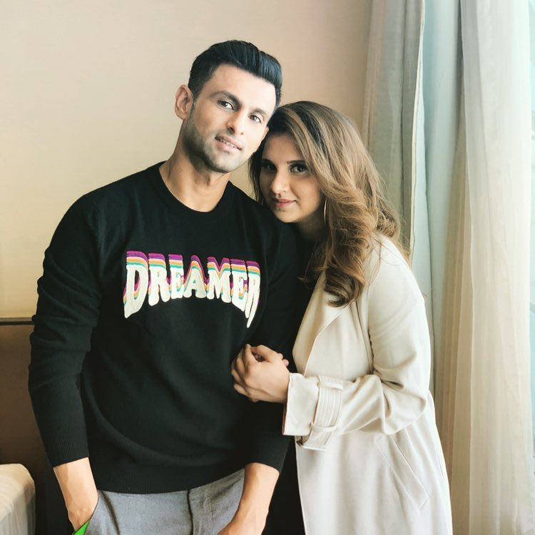 Shoaib Malik and Sania Mirza. PHOTO: SHOAIB MALIK/ INSTAGRAM