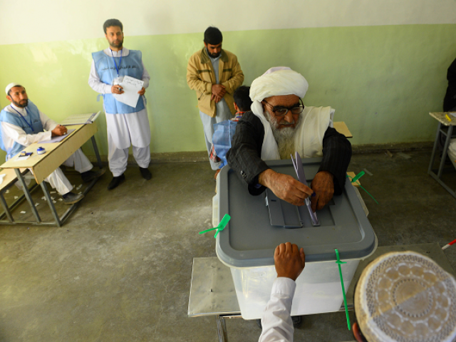 Official figures show roughly 4.2 million Afghans voted in the elections. PHOTO: AFP