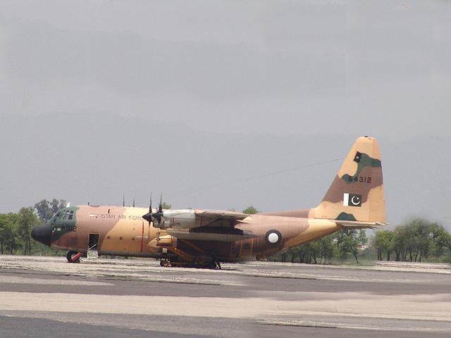 A Pakistan Air Force C-130 aircraft. Photo: PAF/File