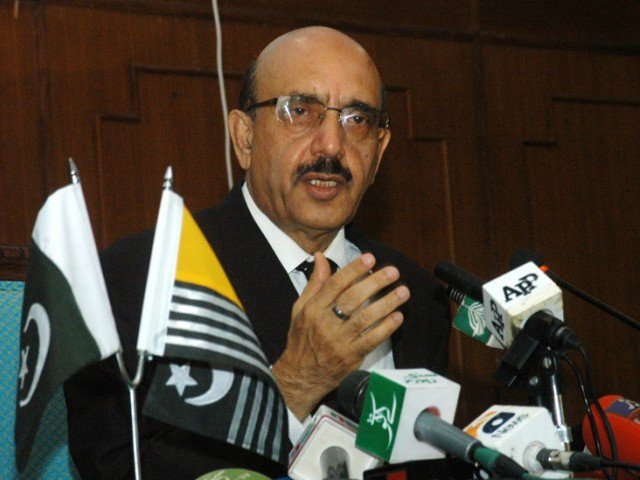 Sardar Masood Khan urges UNSC to appoint special envoy to resolve the conflict. PHOTO: EXPRESS/FILE
