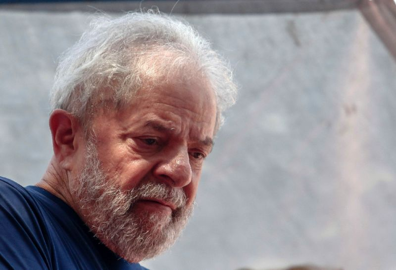 Lula has been incarcerated since April for having accepted a bribe from a major construction firm during his presidency. PHOTO AFP