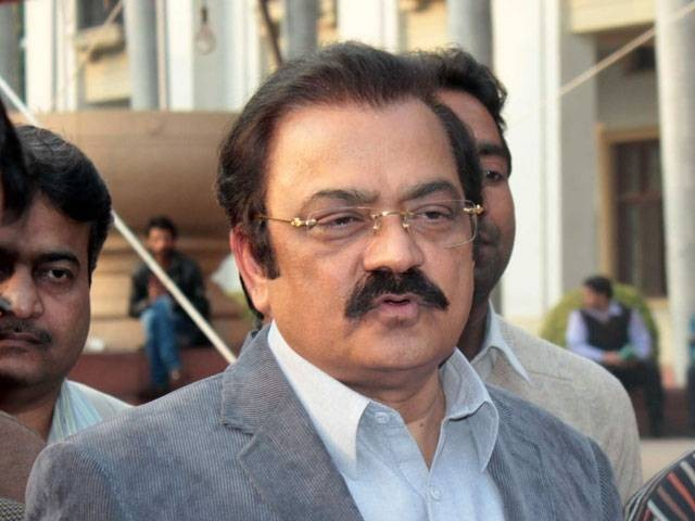 A file photo of PML-N leader Rana Sanaullah. PHOTO: FILE