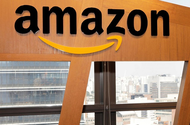 The logo of Amazon is seen in Sao Paulo, Brazil October 17, 2017. PHOTO: REUTERS