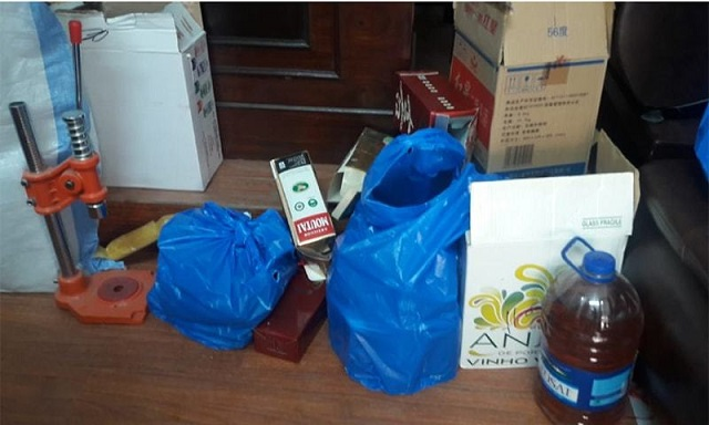 Large quantity of liquor, beer and equipment recovered in police operation. PHOTO: ISLAMABAD POLICE