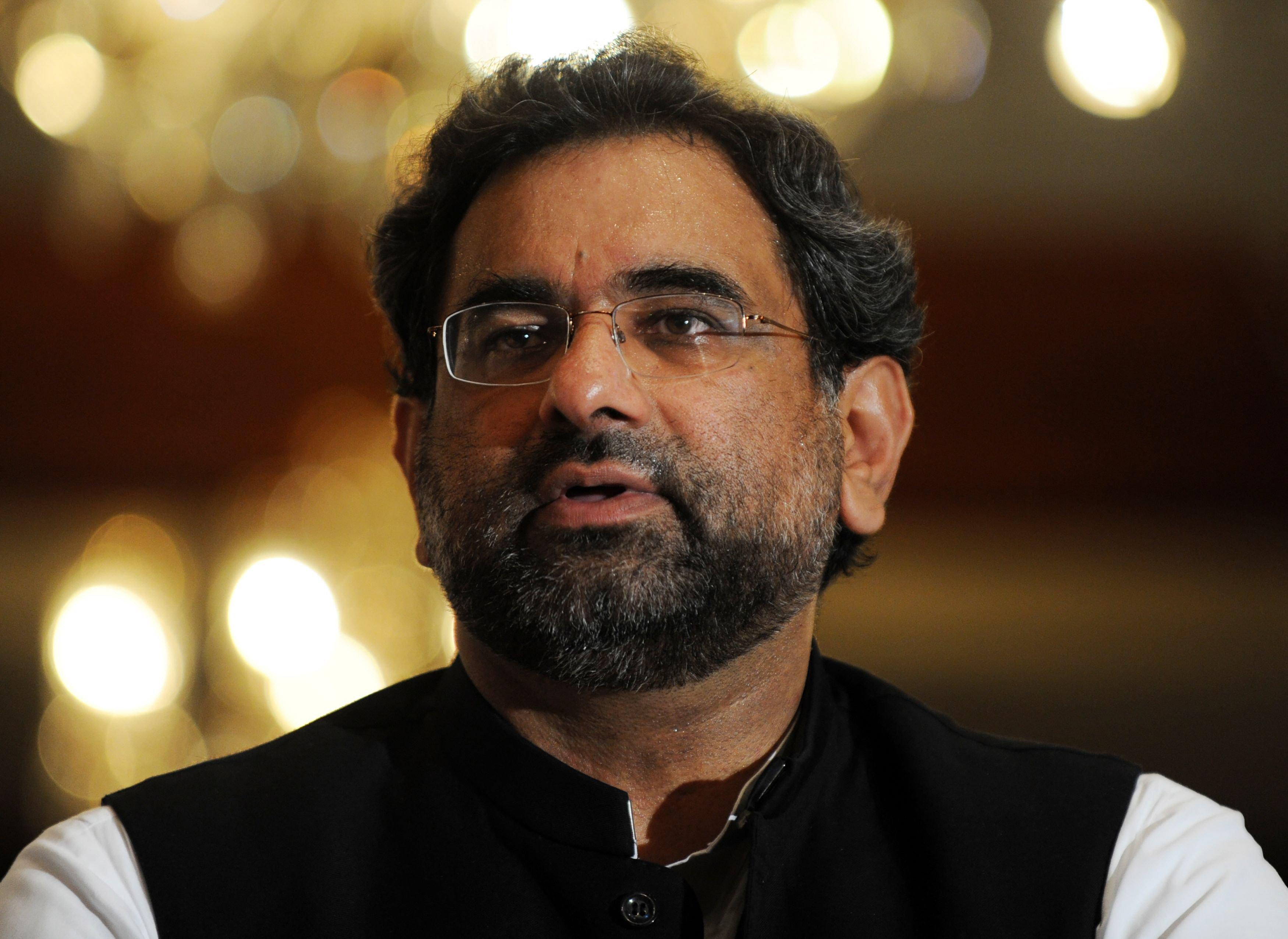 Former PM Shahid Khaqan Abbasi. PHOTO: AFP