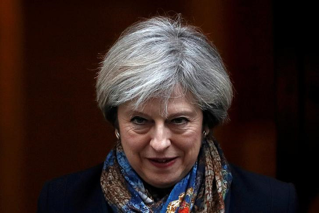 May said the date for a new vote depended on fresh talks with EU leaders.  PHOTO: REUTERS