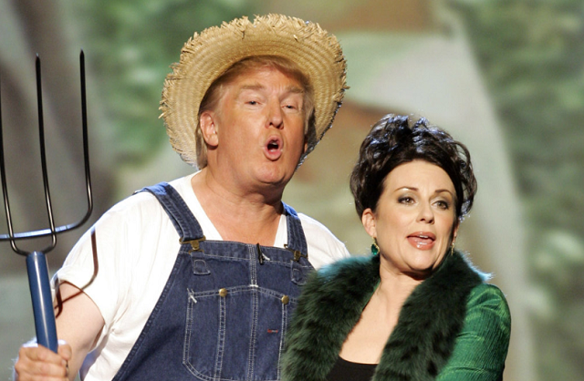 Trump singing Green Acres at the 2005 Emmy's. PHOTO:SCCREENGRAB