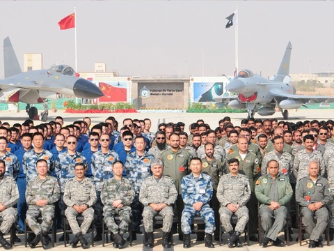 Deputy Chief of the Air Staff (Operations), Air Marshal Muhammad Haseeb Paracha was the chief guest at the occasion. Defence Attaché from the Chinese embassy, Major General Chen Wenrong was also present on the occasion. PHOTO: PAF