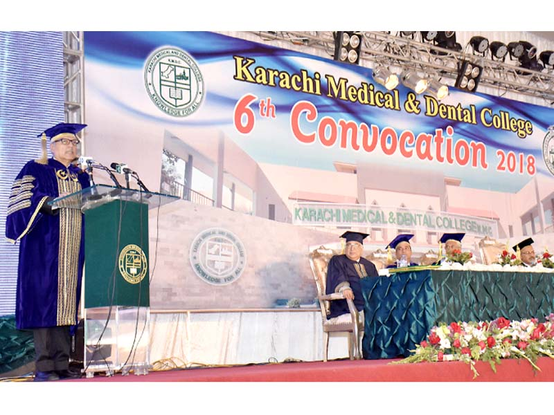 The president sharing his insight with students in his address at the convocation ceremony. PHOTO: NNI