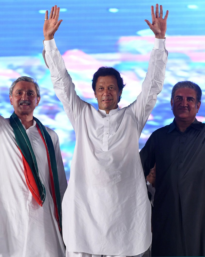 Imran Khan to contest on four National Assembly seats in the forthcoming general elections. PHOTO: AFP/FILE