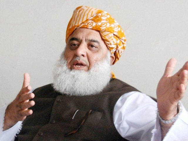 The MMA chief also accused the PTI government of forsaking the people of Indian-occupied Kashmir. PHOTO: FILE
