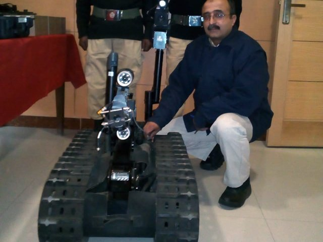 Rs70m worth bomb disposal kit electronically detects, breaks, diffuses bombs under the ground. PHOTO: EXPRESS