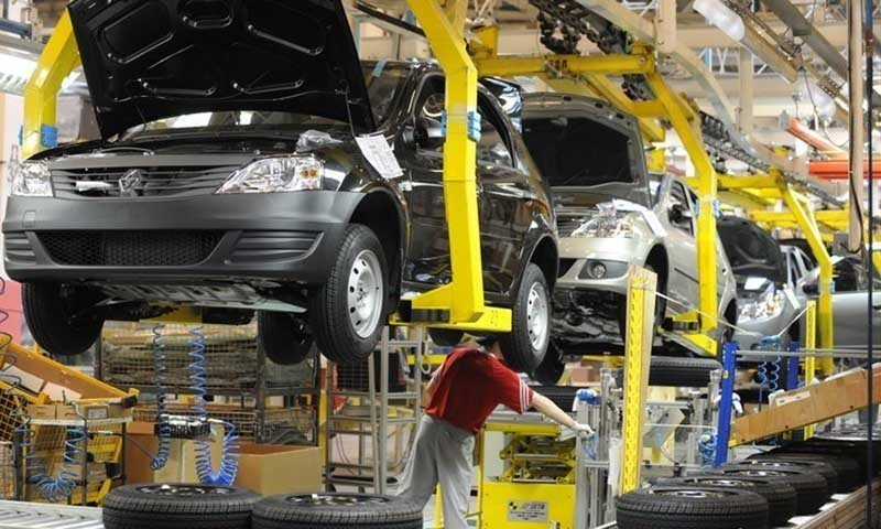 A car manufacturing plant. PHOTO: AFP
