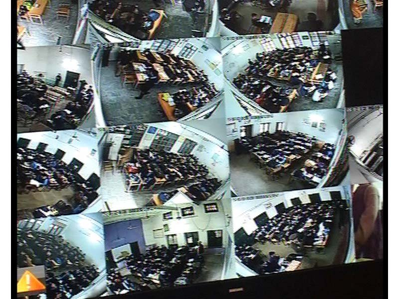 A screen grab of CCTV cameras in a Peshawar school