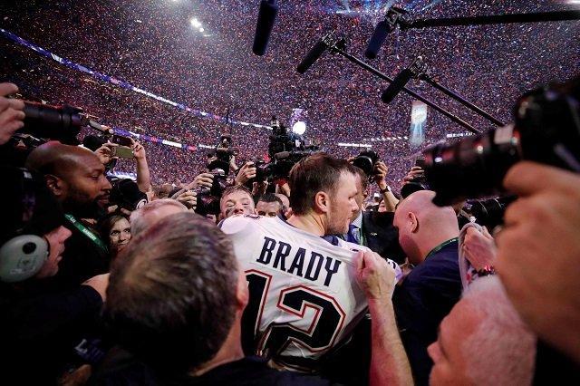 New England Patriots' Tom Brady celebrates winning the Super Bowl LIII. PHOTO: REUTERS