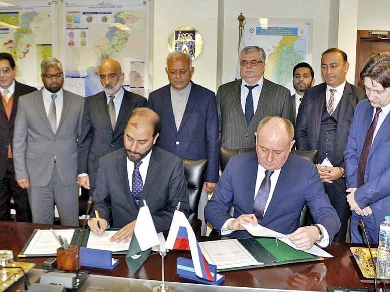 In the first instance a feasibility study would be conducted by Gazprom at its own cost with no financial implications on Pakistan. PHOTO: APP