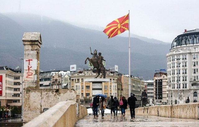 NATO chief Jens Stoltenberg has said he looked forward to Macedonia's flag joining others in the alliance. PHOTO: AFP