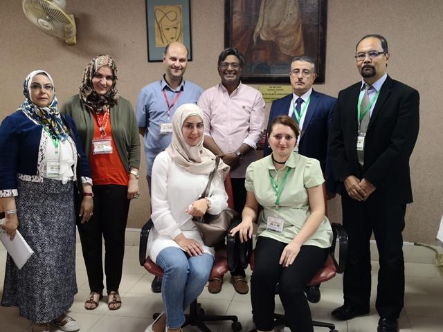 Rami Arafeh, Eldar A. Garev  and Dato Ibrahim Jantan, Sahar I Mostafa, Nohad.A Alomari,Manal fardon and Kamala Badalova with the author (in the middle). PHOTO: EXPRESS
